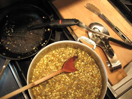 Roasted Tomatillo Corn Sauce