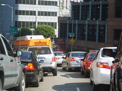 Traffic due to filming