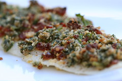 Sole with Spinach-Sundried Tomato Crust