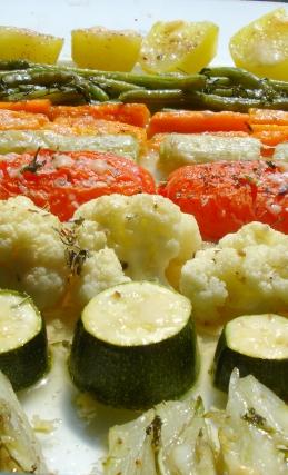 Gemüseplatte essbereit