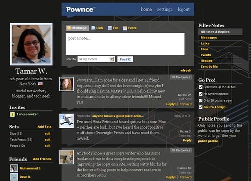 Pownce User Interface
