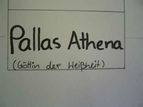 Pallas Athena, Göttin der Weißheit