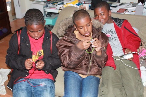 Plastic Canvas - Jovon, Tyrek and Jacal at Work
