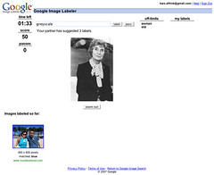 Screenshot of Google Image Labeler