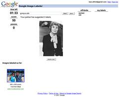 Screenshot of Google Image Labeler