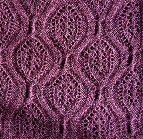 Large Lacy Cables - reverse, blocked