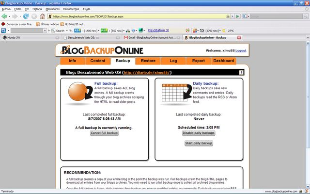 blogbackuponline