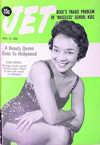 A Beauty Queen, Lesa Davies, Goes To Hollywood - Jet Magazine Nov 17, 1955 by vieilles_annonces.