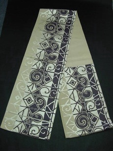 Fukuro Obi with Abstract Pattern