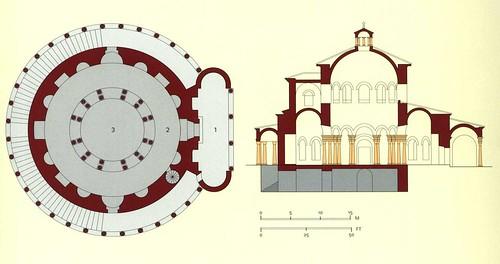 Mauzoleum Konstancji - przekrój i plan