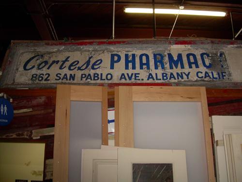 Cortese Pharmacy sign