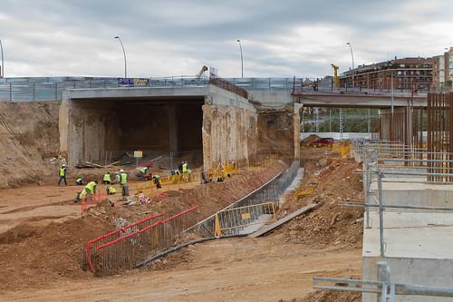 Estació de Sant Andreu - Excavaciones arqueológicas - 15-11-10
