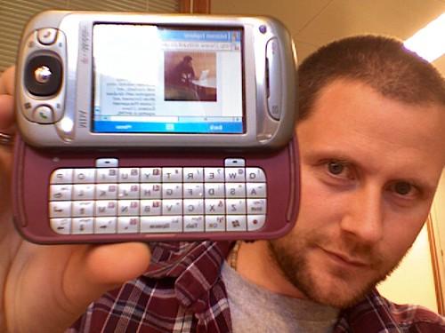 rick hurst and his geek phone