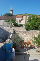 Courtyard, Jezera, Croatia