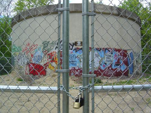 Behind lock and key