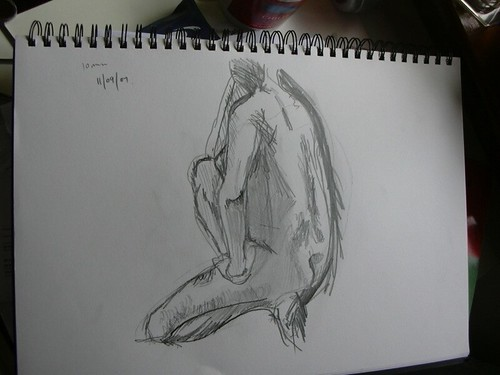 Life drawing class 11th September 2007