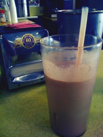 Chocolate milkshake from Wiles-Smith Drugstore