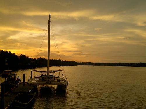semeling,sg petani,kedah,malaysia - sunset