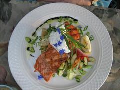 Salmon at Duck Soup Inn