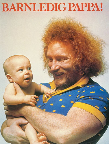1970s Swedish Paternity Leave ad featuring weightlifter Hoa-Hoa Dahlgren