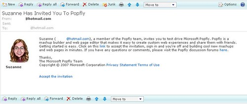 Microsoft PopFly Invitation