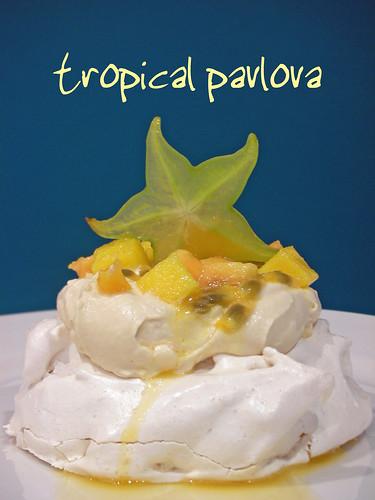 tropical pavlova