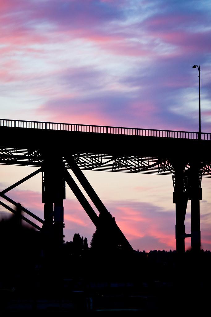 Magnolia bridge sunset