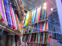 Bolts of Fabric @ Fashion District, NYC, Novem...
