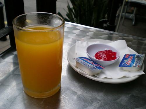 Bintang Warisan breakfast - orange juice