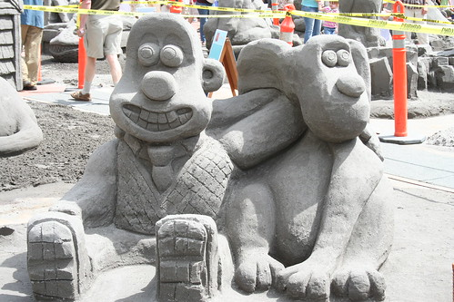 Wallace and gromit sandcastle