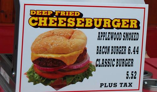 Deep friend cheeseburger