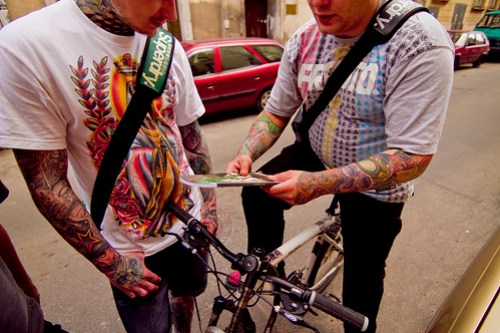 Edek and Daveee from Kult Tattoo with a copy of VNA