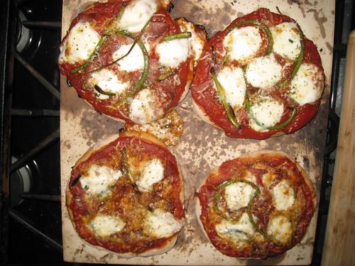 Garlic Scape & Prosciutto Pizza