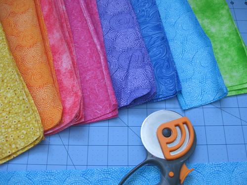rainbow quilt - wip