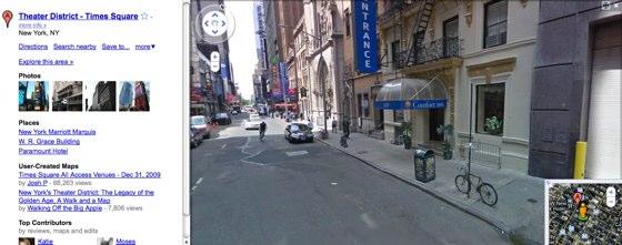 Google Streetview NYC Screenshot