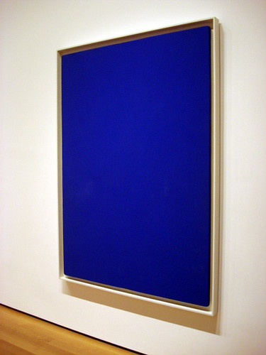 Yves Klein: Blue Monochrome (MoMA - New York)