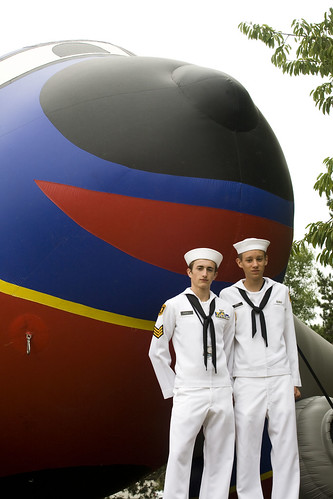 Sailors By A Plane