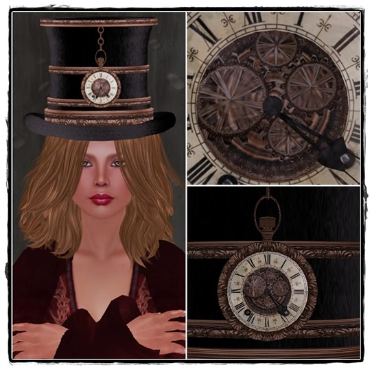 Hatpins Steamy Victorian - RFL Top Hat - Time J