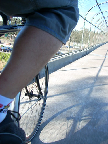 Crossing Hwy 101: Pedestrian overpass