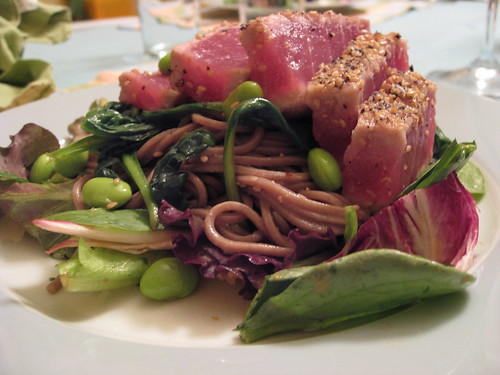 Seared Ahi & Soba Noodle Salad