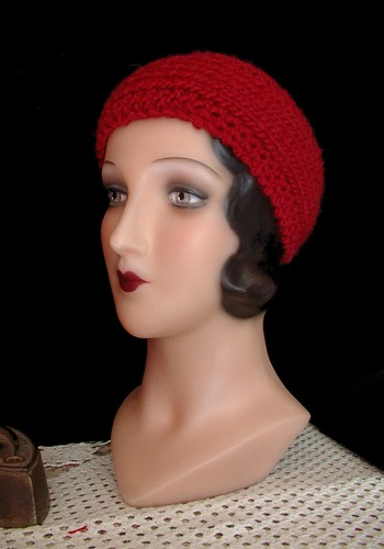 red wool  headband