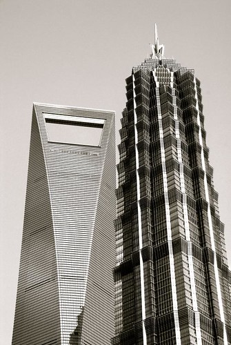 world financial center and jin mao tower