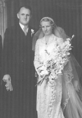 Gladys and Ted at their wedding
