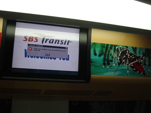 SBS Transit computer error - 2