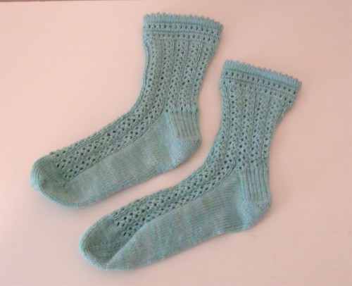 Giotto-With-The-Flow socks, finished.