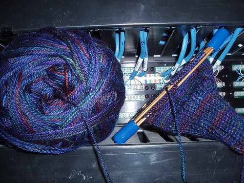 Husband socks in Patch panel