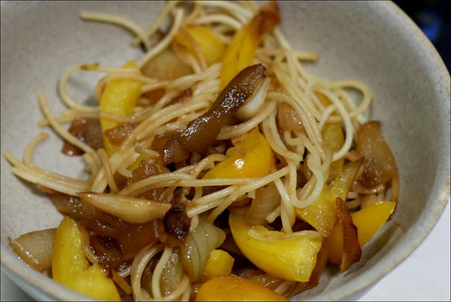 pasta, bell peppers