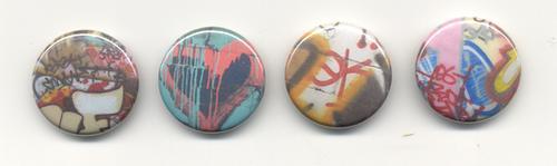 graffiti buttons