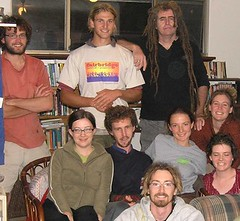 Ciaron O'Reilly with some of us Peace Tree crew