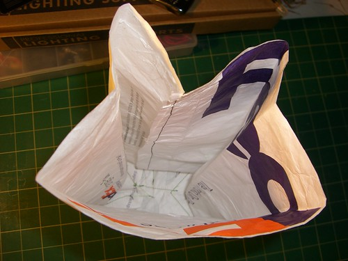 Tyvek lunch bag- inside